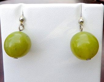 Olive Jade Earrings