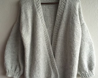 Oversized sweater jacket handmade