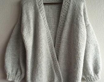 Oversized sweater jacket handmade