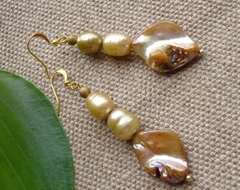 Earrings slope - interesting earrings m of real Afar
