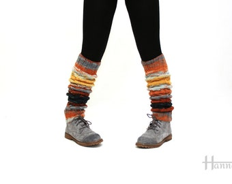 hand knitted leg warmers for women