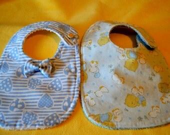 Cotton Baby bib and sponge