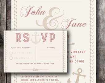 Nautical Wedding 2-Pack With RSVP