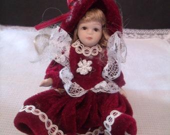 Vintage Miniature Porcelain Doll, (# 459/15)
