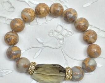 Safari Jasper Bead Bracelet