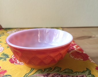 Anchor Hocking Fire King Kimberly Orange and Yellow Ombre bowl