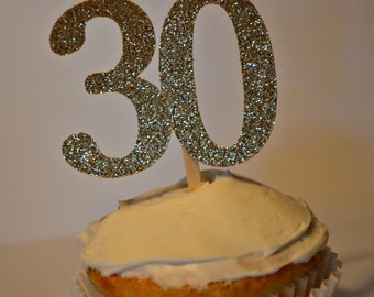 30th Birthday Cupcake Toppers. 30 Cupcake Toppers. 30.