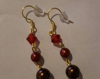 Vintage style bicone bead earrings