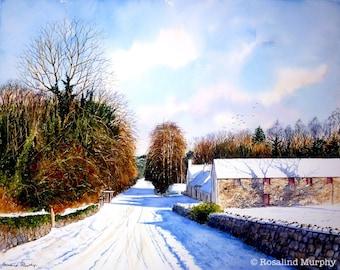 Snowy Path (print of original watercolour)