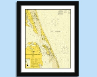 Nags Head NC - Outer banks - Nautical Chart Decor