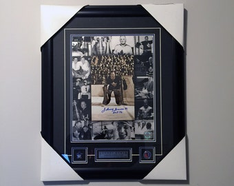 Johnny Bower Autographed 16x20in Photo Collage - Professionally Framed