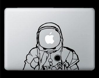 The Astronaut Vinyl Decal 13 inch Macbook
