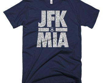 Travel T Shirt, Traveling T Shirt, Mens Travel Shirts, Travel Shirts Men, Jfk Mia, Miami T Shirt, New York T Shirt, Nyc Shirt, Cool T Shirt