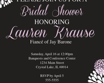 DIGITAL* Floral Bridal Shower Invitation