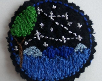 Hand embroidered patch