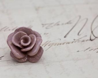 Rose Brooch - ceramic
