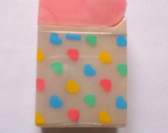 RARE Kutsuwa Pops Club Pink Heart Pencil Shapener