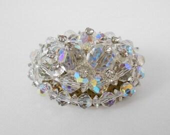 Crystal and Rhinestone Brooch Pin