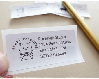 Address Label / PuchiMo Original / Simple and Cute