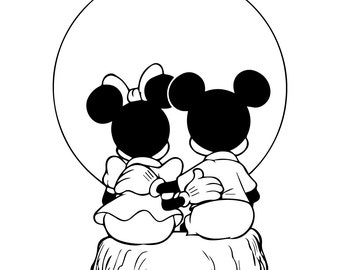Mickey and Minnie mouse  svg,Walt disney eps, Mickey and Minnie mouse  silhouette,Walt disney file,Mickey and Minnie mouse instant download