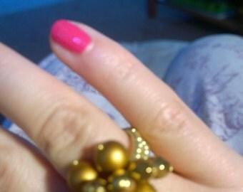 Czech glass beads ring