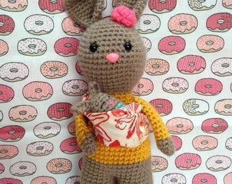 Baby Wearing Bunny Pattern