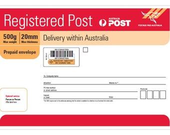 Registered Post - Australian Orders Only