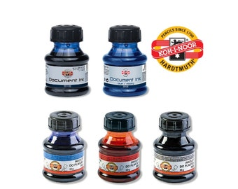 Koh I Noor fountain pen ink black blue red green document 50g refilling writing