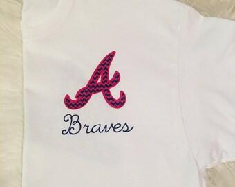 "Chevron ""A"" Atlanta Braves shirt"