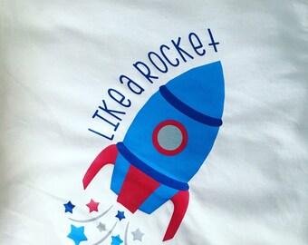 Like A Rocket- July 4th boys shirt