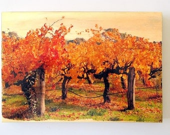 winery photos, wood mounted - with mini audio tour!