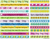 """Printable Sticker Strips """"Pray"""" . Fits on an 8.5x11 sheet. 6 and 4 inch strips for your bibles, planners, cards, journals or scrapbooks."""