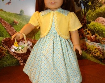 For American Girl Dolls and Other 18 inch dolls! Lovely Sleeveless Dress with Coordinating Jacket!