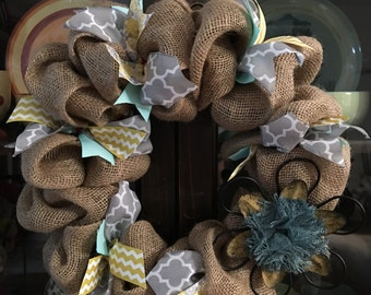 Free S&H on this gorgeous flower wreath