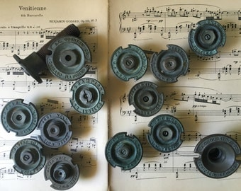 Set of 14 Vintage Brass Rain Bird Sprinkler Heads, steampunk, altered art