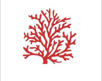 Machine embroidery design coral, corals, summer, beach, marine