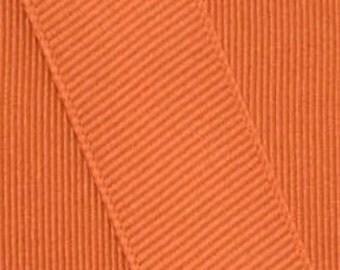 Papaya Orange Grosgrain Ribbon    (05-##-S-274)