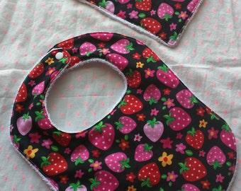 Baby / Toddler bib+small wash cloth gift set