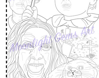 Pet Sematary colouring page