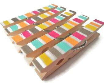 Decorative Clothespins. Clothespin Magnets. Refrigerator Magnets. Fridge Magnets. Magnets. Magnet Clips. Party Decor. Wedding Decor.