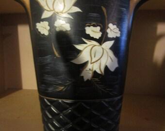 1950's black & white vase