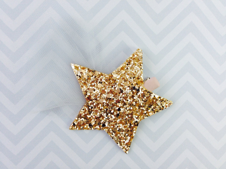 Glitter Tulle Shooting Star Hair Clip