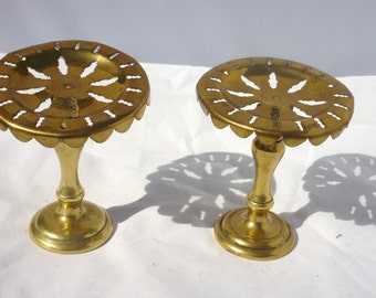 Victorian Antique Brass Pair Shop holding exhibition stand for pockets watches