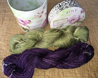 Hand-spun and hand-dyed yarn - 100% bamboo