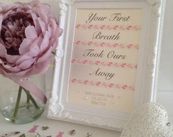 Framed Typography Embellished Quote - Baby Girl
