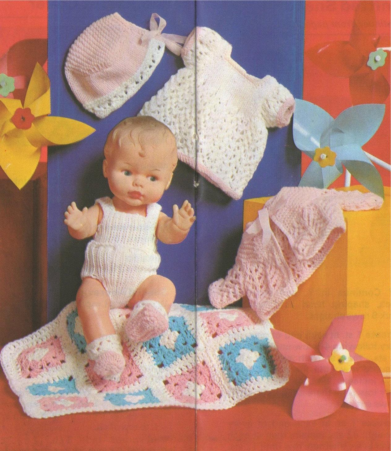 Amigurumi Baby Elephant Pattern : Dolls Clothes PDF Knitting Pattern and Crochet Blanket Pattern