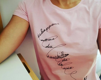 T-Shirt Pink whirlwind woman graphic
