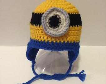 Newborn/0-3 months/3-6 months Minion Hat