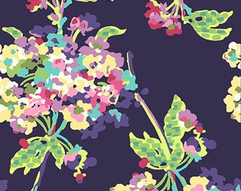 Amy Butler - Love Collection - Water Bouquet - Midnight - AB51 - 100% Cotton Fabric by the Yard - You Choose Your Cut