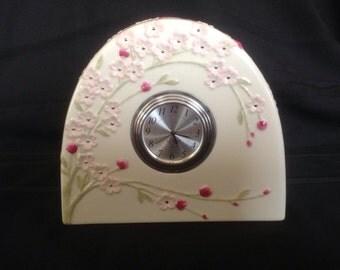 Pink Cherry Blossom Lenox Clock